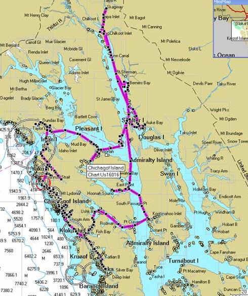 Alaska Inside Passage 2008 Planned Routing